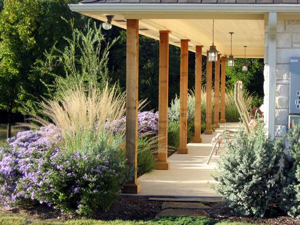 Texas land design for Country garden designs landscaping