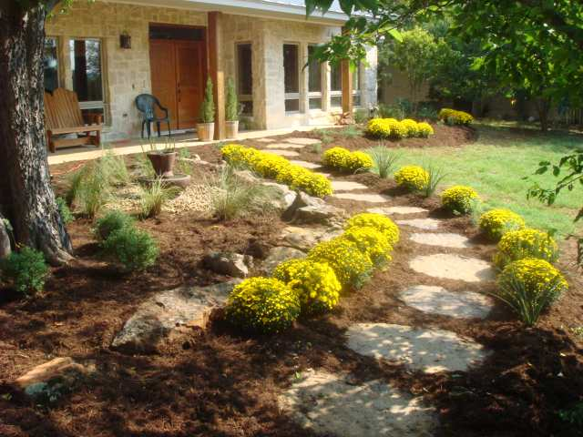 This Customer Built A Beautiful Texas Hill Country Style Home And Wanted To Also Enjoy Native Landscape All Plants Were Chosen Require